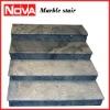 sky blue marble stair railing indoor stair railings