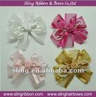 "Organza Ribbon 1.5"" Flower Apppliques Bow"