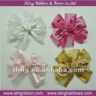 "Organza Ribbon 1.5"" Flower Apppliques Bow"
