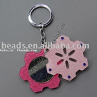 Acrylic snowflake charm promotional key chain