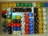 colorful dice as a gift