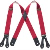 Leather X Shape Suspenders