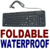 Compact Flexible Foldable Illuminated Full Sized Keyboard for tablet&PC