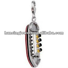 3D Titanic Ship Shaped Silver Plated Enamel Charms 2012 Hot Sale