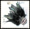 Beautiful Feather Breastpin for Garment Decoration
