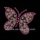 fashion new style butterfly hot fix rhinestone