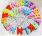 Wholesale Toothpick letters candle Party Cake Candles