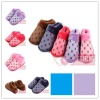 2012 winter slip resistant apple new design cotton slipper