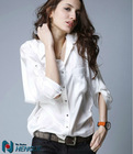 ladies office wear plus size women office uniform style ladies tops latest design shirts for woman T201388