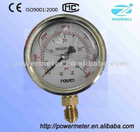 Y100 SS with oil filled pressure meter