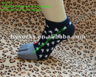 knitting pattern no show jacquard 5 toe cotton socks,boat socks