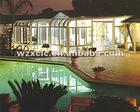 Custom made glass garden house