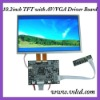 10.2 inch Digital tft lcd with laptop lcd Controller Board