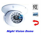 CCTV Security IR Night Vision Color CCTV Security Dome Camera Swivel White Indoor
