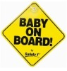 Baby on board made of eco-friendly material