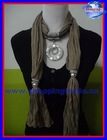 2012 new design scarves with big circle pendant