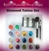 Body Diamond Tattoo Set with Tattoo Stencils