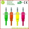 Colorful 3.5mm male to male extension cable,mobile phone aux cable(underground copper telephone cable)