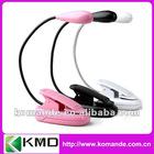 Pink mini clip book light e-book reading lamp