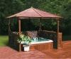 Outdoor wood arbor ligneous gazebo wood gloriette wooden kiosk M-905