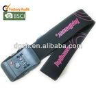 polyester luggage straps with lock, lock luggage straps with printing logo