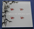 silk printing glass price / tempered silk screen printing glass