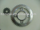 motorcycle chain and sprockets