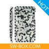 Diamond Rhinestone Bling Plastic Hard Case for iPod Touch 2 / 3 (Black) -for ipod touch case
