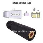 welding cable socket (Euro standard welding parts)