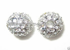 C090 Wholesale Shamballa Alloy Crystal Beads