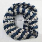 striped scarf pattern knitted neck warmer