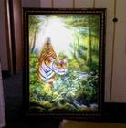 3D lenticular light box of tiger for advertising 3D outdoor light box 3D street light box