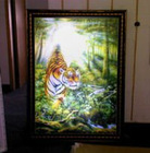 3D lenticular light box of tiger for advertising 3D outdoor light box 3D street light box