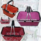 2013 Newest!!! Superior Quality 600D Polyester Folding Shopping Basket For Supermarket With Double/Single Handles