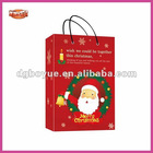 2013 factory supply red Santa Christmas gift bag with your cusomised logo welcome