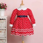 New style long sleeved maxi dress for kids