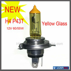 Original yellow glass car halogen headlights H4 P43T
