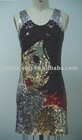 fashion printed bead dress