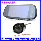 "7""TFT Screen LCD Car Rearview Mirror Monitor+Car Night Vision Rear Camera Paking Sensor System"