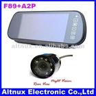 """7""""TFT Screen LCD Car Rearview Mirror Monitor+Car Night Vision Rear Camera Paking Sensor System"""