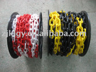 red and yellow safety plastic pe chain link