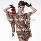 Free Shipping Lady Fashion Dress Mini Sexy Leopard Grain Printing Dress
