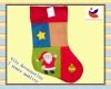 Lovely christmas design combination Non-woven Christmas Sock (SDW 03)