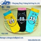 Smile face Straight tube Cartoon socks YDC-248