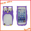 HOT New Owl shape custom cellphone silicone cover for 4G / 4S / 5G