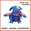 blue electronic dog music toy