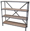 antique metal shelf