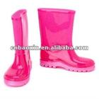 Fashion solid color children rain boots