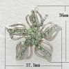 Alloy Brooch, with mideast rhinestone