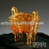 Antique Imitation Crystal Censer /Stove with Dragon Sculpture